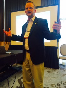 Jim Miller at MEDA convention.